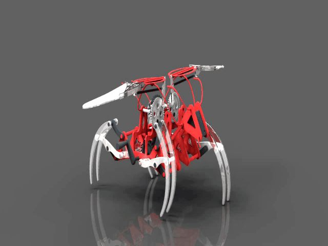 flying insect mechanical. - STEP / IGES,Rhino,SketchUp,Autodesk Inventor,Parasolid - 3D CAD model - GrabCAD