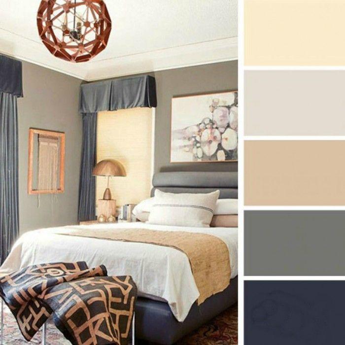 paleta de colores para dormitorio azul marino vainilla grises