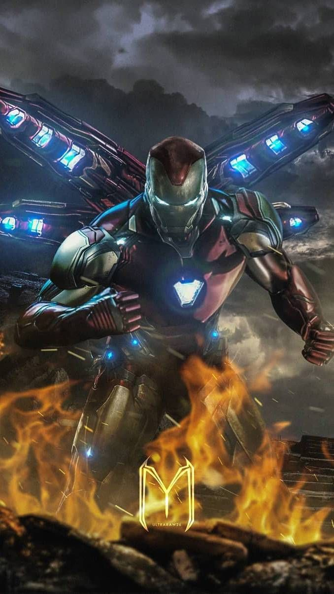 The Iron Man In Endgame Iphone Wallpaper With Images Iron Man Avengers Iron Man Armor Iron Man