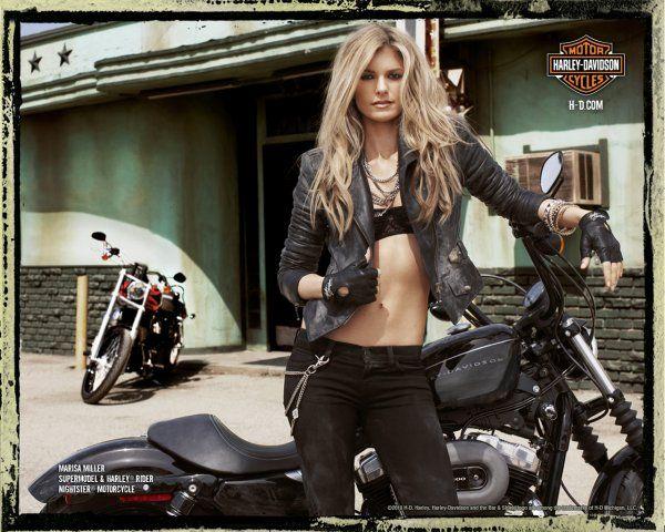 Мариса Миллер (Marisa Miller) снялась в новой рекламе мотоциклов «Harley Davidson»