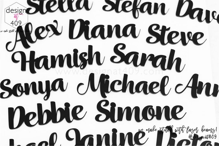 Black Acrylic Place Names : Design at 409