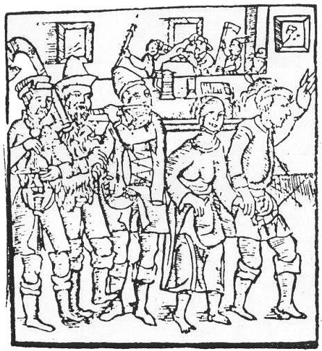Zabawa w karczmie, XVI wiek.