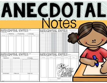 These FREE anecdotal notes are an easy and efficient way to record daily observations of your students progress!