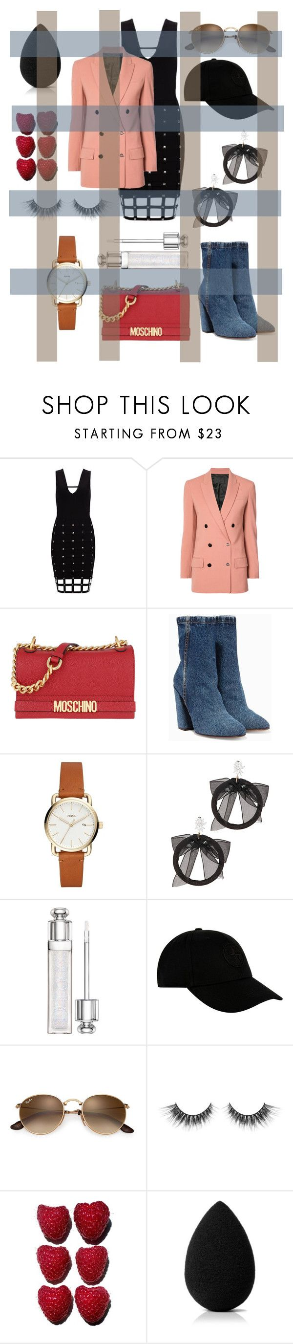 """""""Untitled #191"""" by livefastdng ❤ liked on Polyvore featuring Alexander Wang, Moschino, Dries Van Noten, Fallon, STONE ISLAND and beautyblender"""
