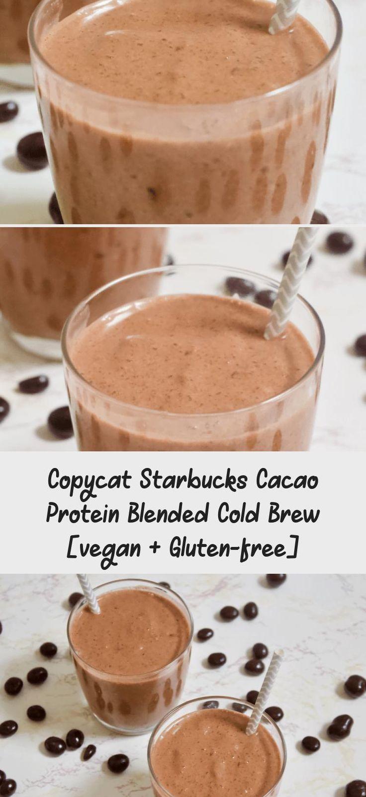Copycat starbucks cacao protein blended cold brew vegan