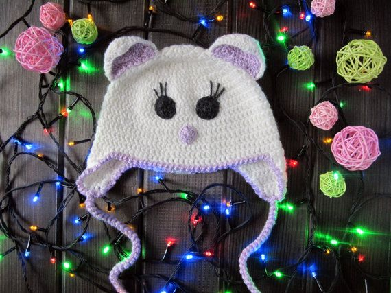 Children's cap, baby hat , hat cat or Animal hat, for children , knitted hat