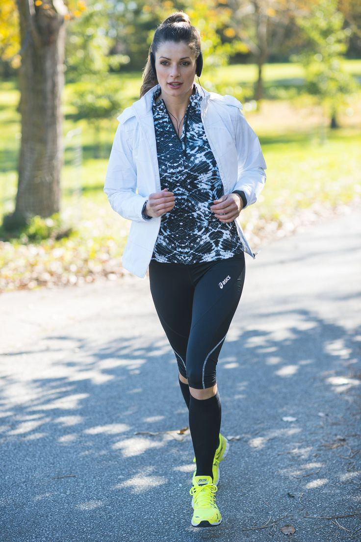 This outfit is designed to keep you warm and on track during any run.