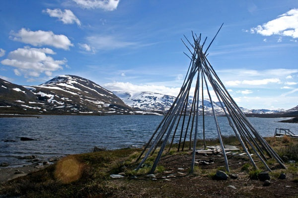 The Kungsleden (translated as 'King of Trails') is a famous long distance trekking route that runs 450 kms across the top of Sweden; 160 kms north of the Arctic Circle, through 4 national parks, across numerous lakes, and past the highest mountains in Sweden.