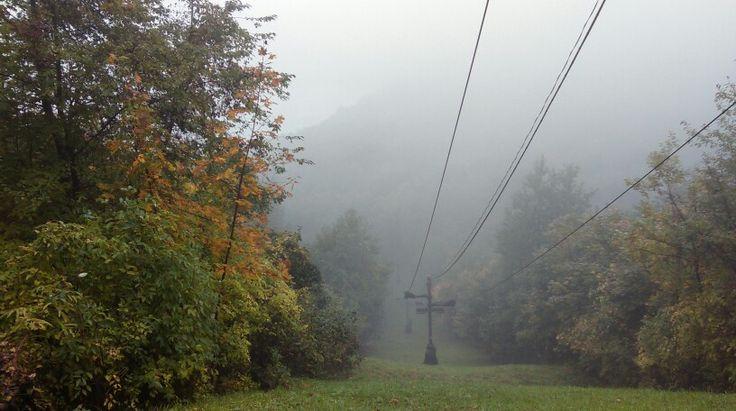 Foggy hills of Visegrád