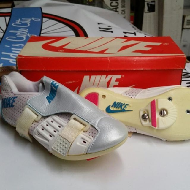 Although if @nike cycling is a must have and you have tiny tiny feet there may be some old school bike slippers you can pick up for two wheels dancing at @eddyscyclecity