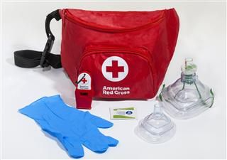 Lifeguard Hip Pack with Adult CPR Mask, Infant CPR Mask and Whistle @ Red Cross Store