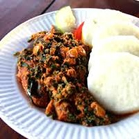 Of course no event can be complete without my local meal; iyan and egusi soup