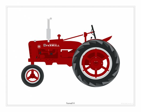 Classic tractor illustration google search foo ideas for International harvester room decor