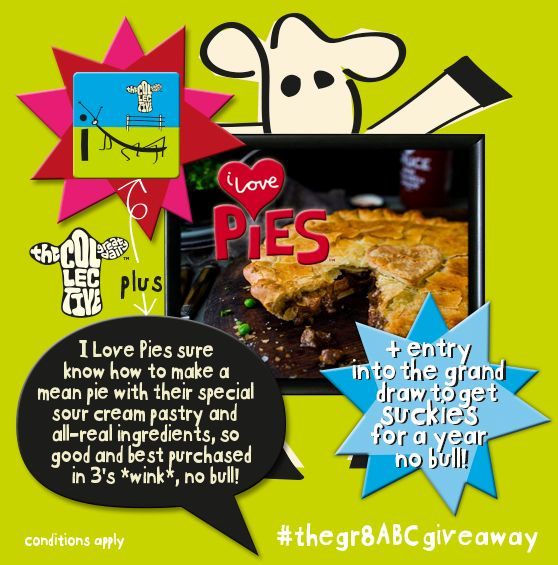 irresistible family-sized pies from the I Love Pies crew and we can tell'ya straight that these handmade creations, using the bestests of ingredients, will have your din-dins sorted in an instant and your loved ones salivating for sure! head on over to our Facebook page, like this post & comment #incredibleilovepies before 1pm tomorrow and you're in with a chance to be scoffin' the good stuff };8 #brandmance