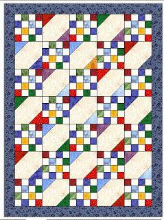 Elizabeth's Quilt Projects - scrap quilt design