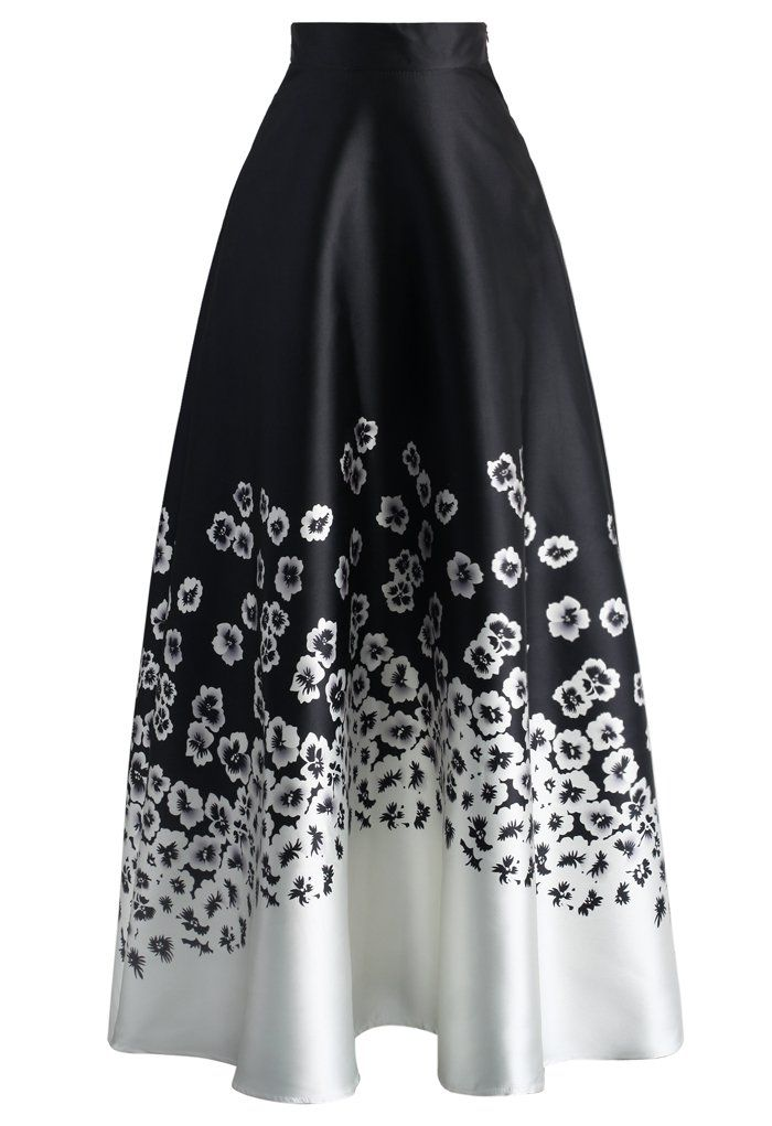 Midnight Flower Land Maxi Skirt - New Arrivals - Retro, Indie and Unique Fashion