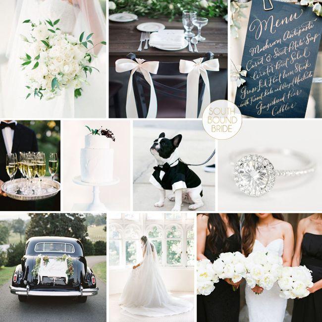 Classic Monochrome Wedding Inspiration Board | SouthBound Bride