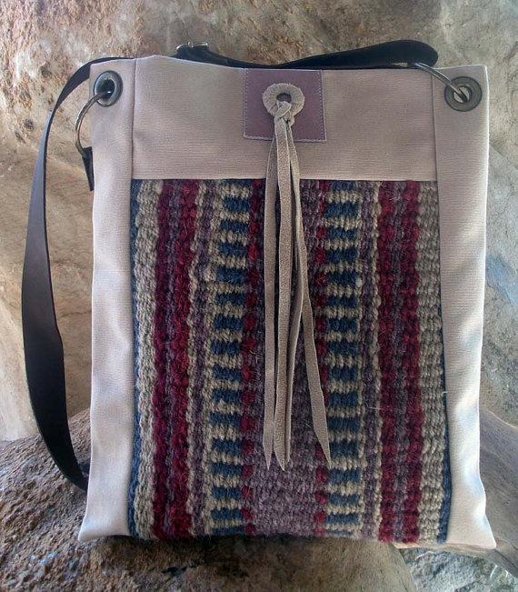 Crossbody purse // Bedouin weaving // Ethnic // by LunaBagDesigns, $90.00