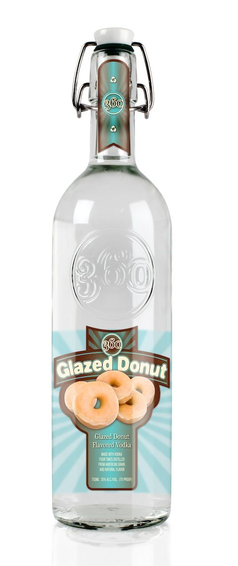 the glazed donut flavoured vodka by 360 Vodka