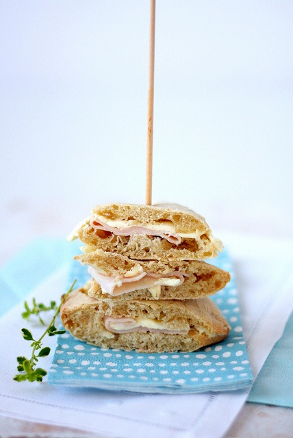 Homemade pita bread sandwich.