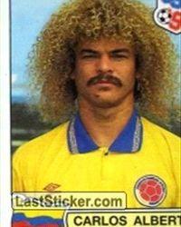 """Carlos """"El Pibe"""" Valderrama: Jugador nacido en Santa Marta. Tal vez el futbolista más importante de la historia de Colombia."""