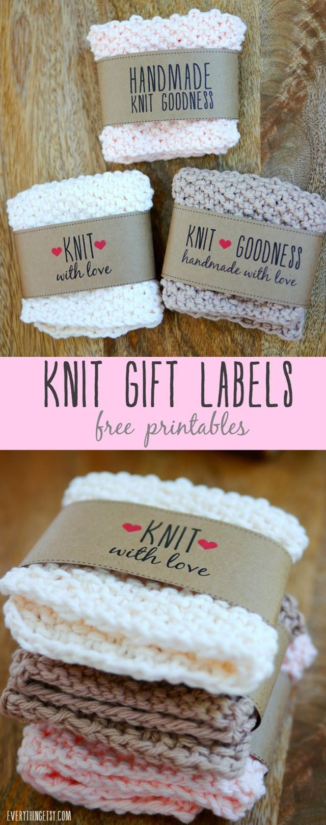 Looking for a sweet and simple way to wrap up a handmade knit gift? You'll love these free printable knit labels! Your handmade gifts will look ready for a boutique in seconds! I had such an awesome r