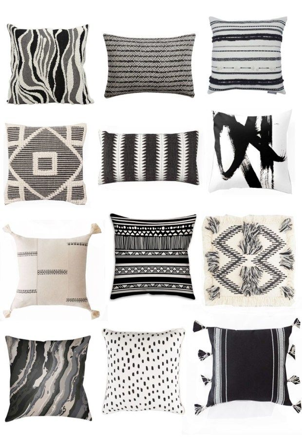 Black White Pillows White Pillows Bed Black And White Pillows