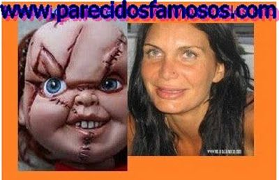 Parecidos con famosos: Yola Berrocal mas fotos con Chucky