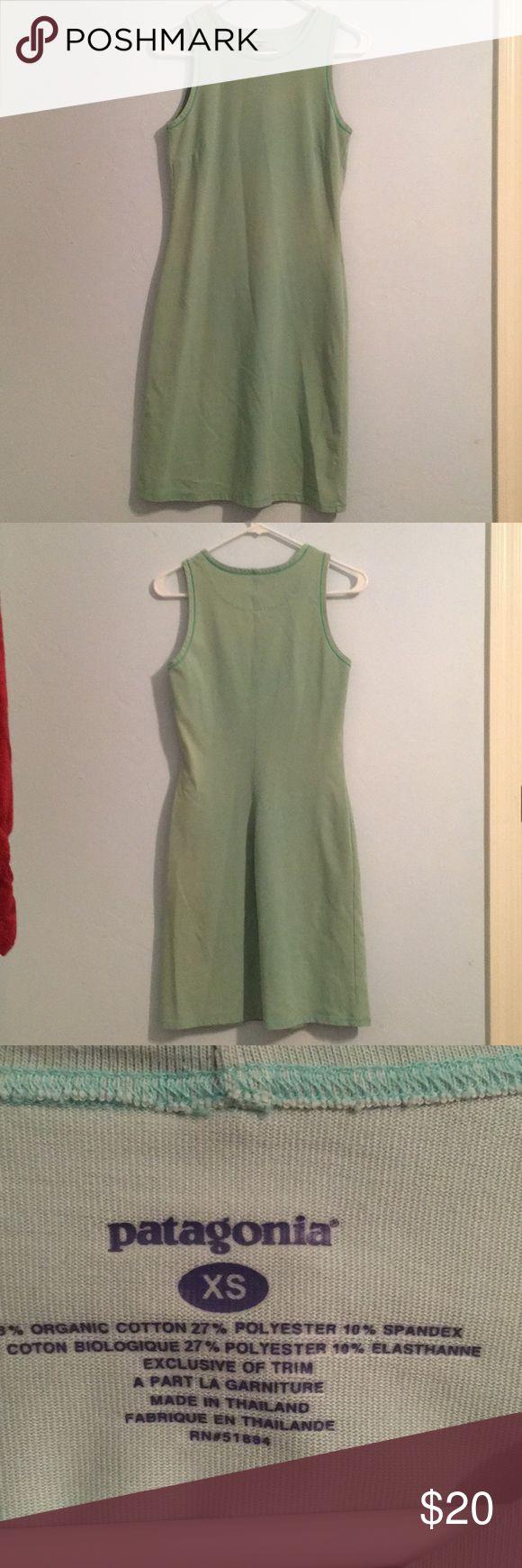 "Patagonia dress Mint green Patagonia dress, stretchy/comfortable material, bandage style dress, 36"" long Patagonia Dresses"