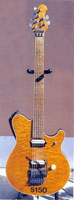 Eddie Van Halen's 5150 Musicman on display at the Hollywood Guitar Center on Sunset.