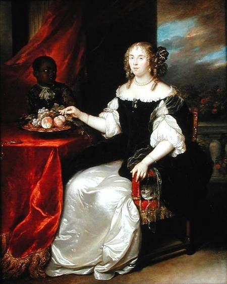 Caspar Netscher Portrait of an elegant lady (1670)