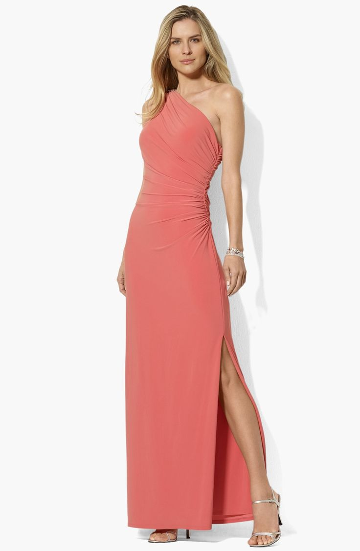 Lo lo lord and taylor party dresses - Here Is The Dress I Purchased For Robyn S Wedding In Playa Riviera Mexico Lauren Ralph Lauren One Shoulder Matte Jersey Dress Available At