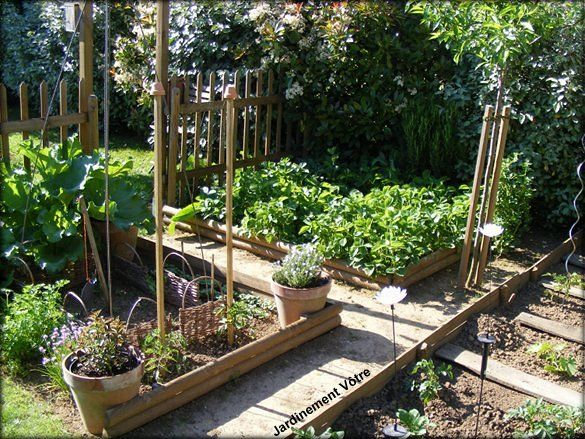 93 best images about potager en carr ou rectangle on for Carre potager design