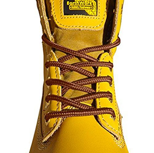 From 2.04 Strong Round Bootlaces 120cm Long For Steel Toe Cap Boots Walking Boots Hiking Boots Work Boots Dr Martens Grafters Work Boots (brown)
