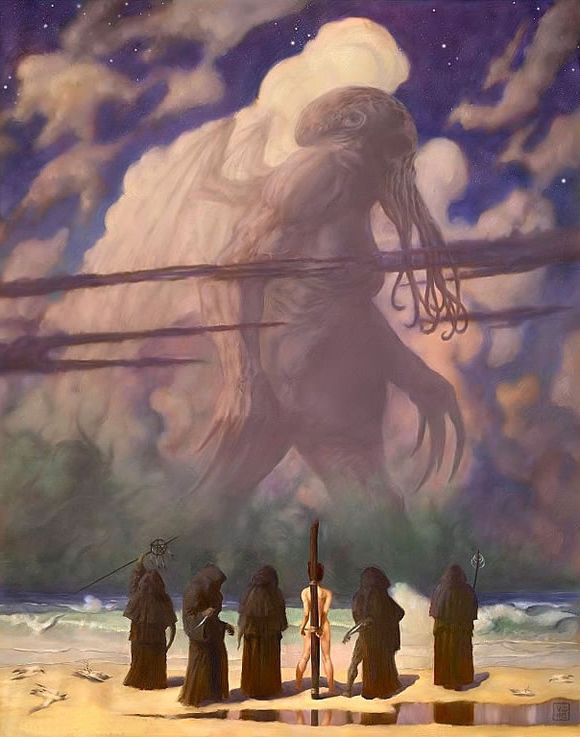 "Cyril van der Haegen inserts unspeakable evil into N. C. Wyeth's ""The Giant."""