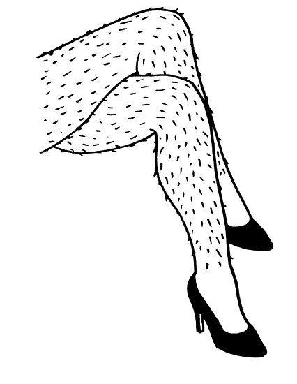 'Hairy Legs' Poster by rnango