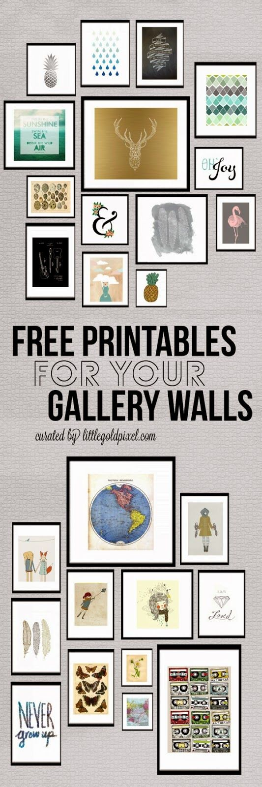 Do you have some empty walls in your home, and no budget for expensive art? Do you like to mix it up on the regular? If you answered yes to any of these questions, you need to check out the free printable gallery art curated byLittle Gold Pixel.  Click here to download the above …