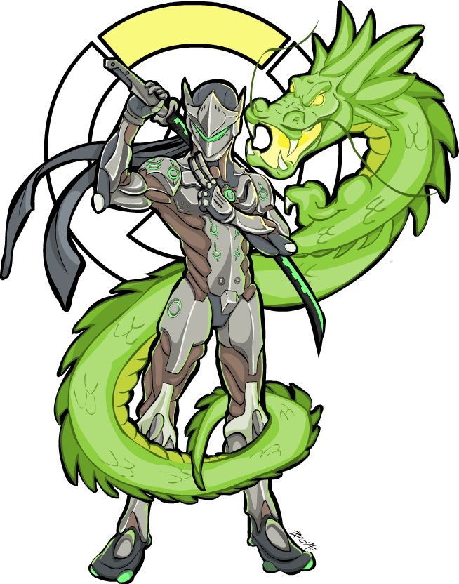 Overwroughtfan Genji sancolored By Tokeshiro All These Dragon Based