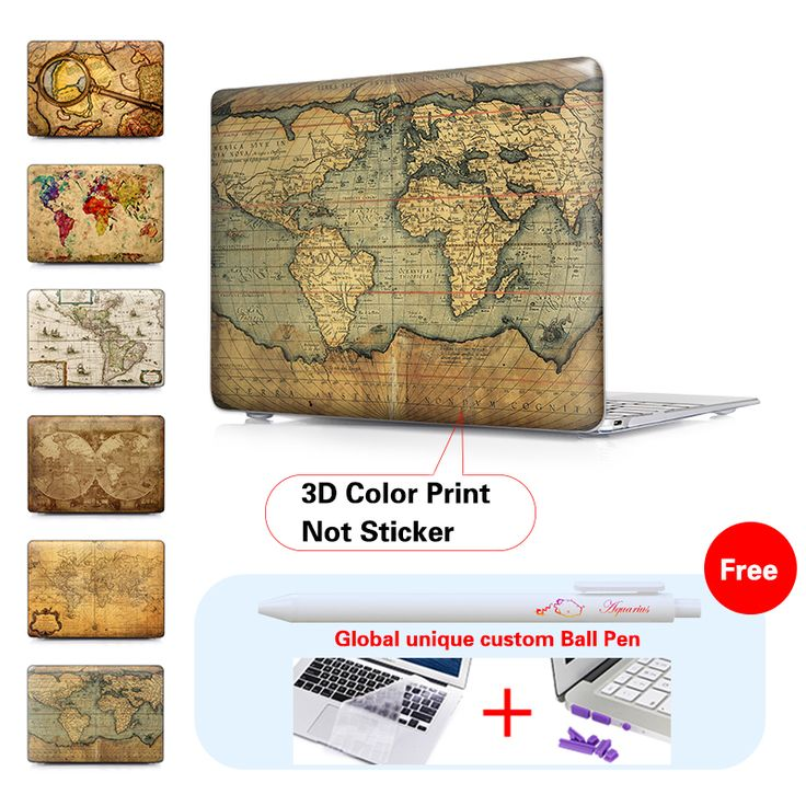 Colorful Vintage Map Laptop Matte Protective cover For Macbook Pro 15 Case air sleeve 13 Pro Retina 13 For Mac book air 13 Case | iPhone Covers Online