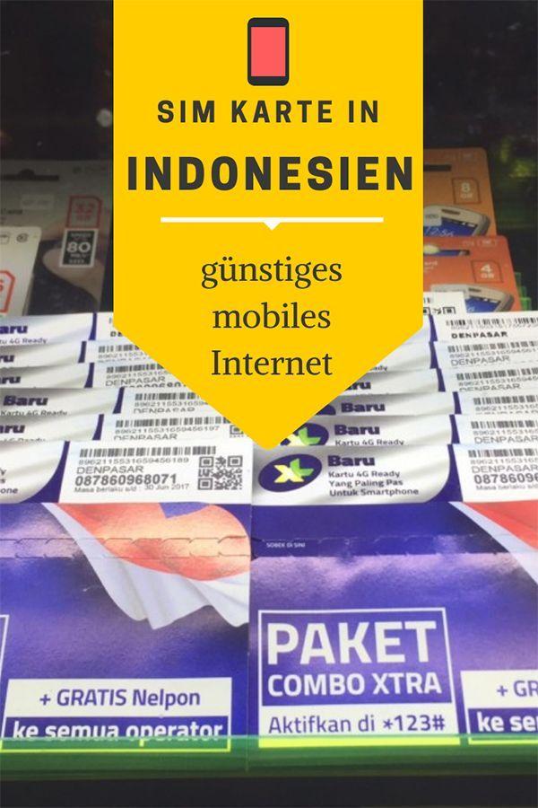 Sim Karte Indonesien Mobiles Internet Und Gunstig Telefonieren