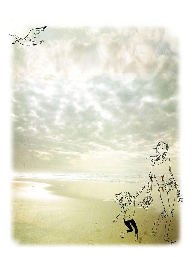 Margaux Motin, J'adore la plage sous les nuages d'automne comme aujourd'hui.