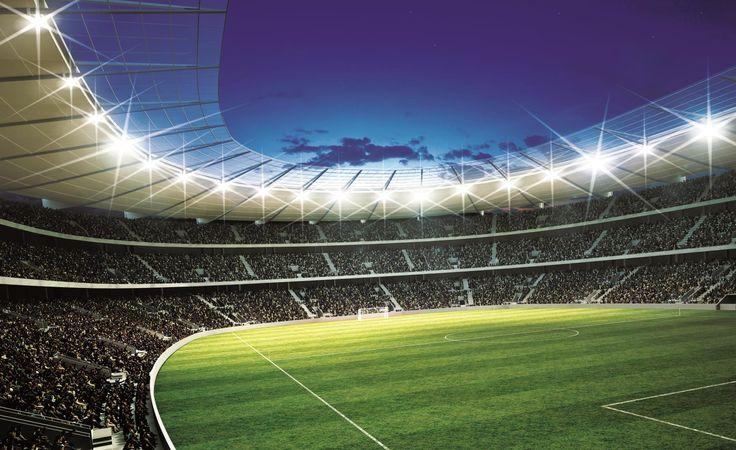 Dit fotobehang geeft je het gevoel of je in het stadion zit. Verkrijgbaar in twee maten vanaf 59,95.