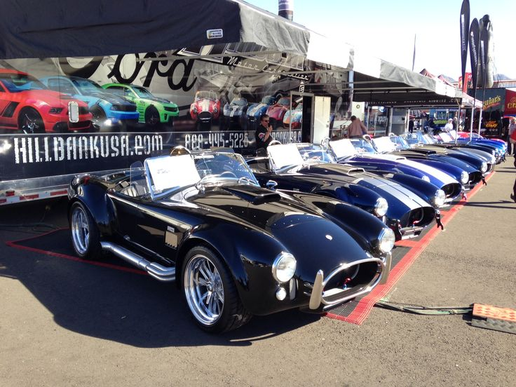 These lovely Superformance machines are lined up at the Hillbank area at Barrett Jackson.