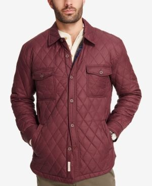 Weatherproof Vintage Men's Quilted Jacket, Created for Macy's - Red XL