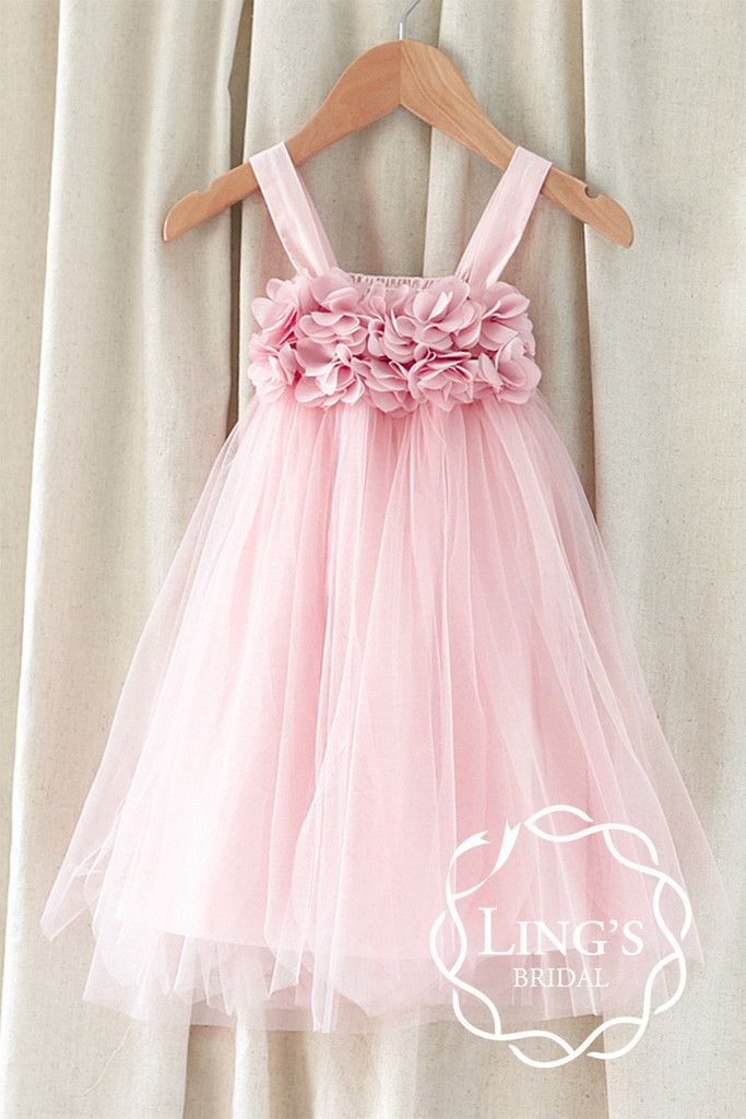 Chic Pink Tutu Flower Girl Dress – Ling's Bridal
