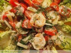 Ein schneller, leckerer Salat: Garnelensalat mit Tomaten und Parmesan