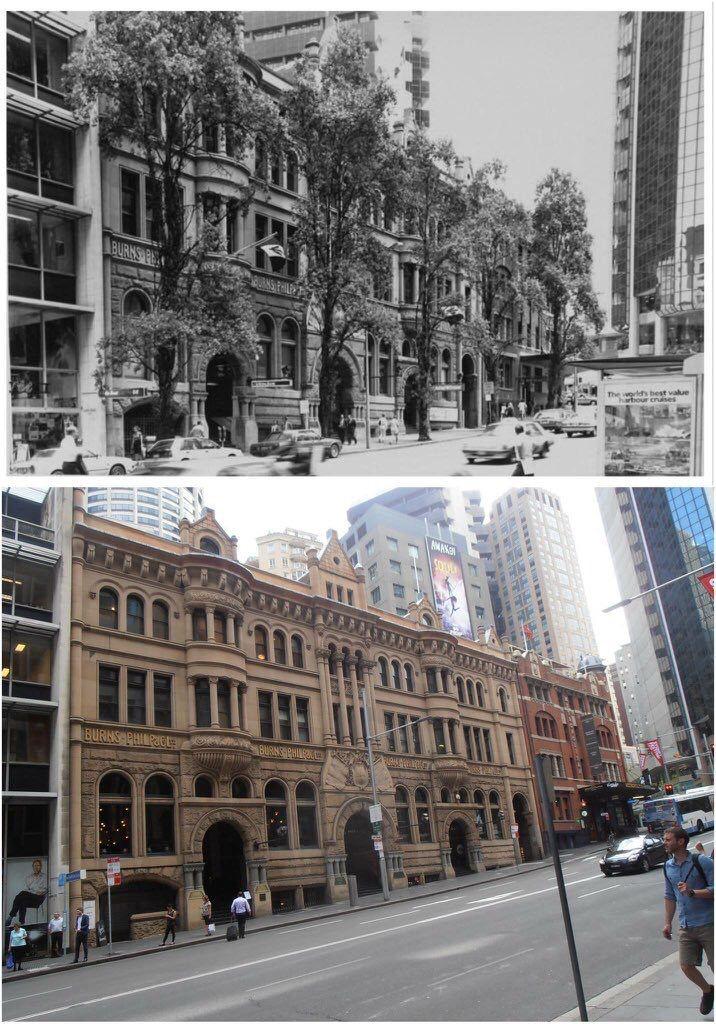 Burns Philp Building at 5-11 Bridge St, Sydney 1989 - 2016. [City of Sydney > Kevin Sundgren. By Kevin Sundgren]