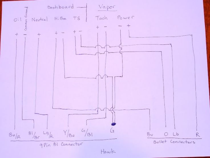 Trail Tech Vapor Wiring w/Dashboard - Honda Hawk GT Forum : trail tech wiring diagram - yogabreezes.com