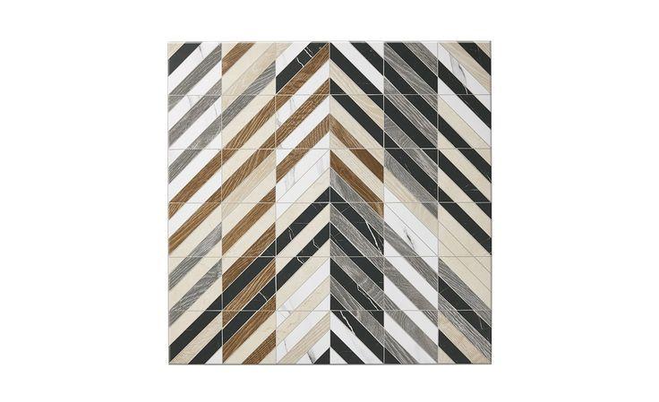 Carrelage ARTDECO, aspect marbre multicolore, dim 60 x 60 cm | Saint Maclou