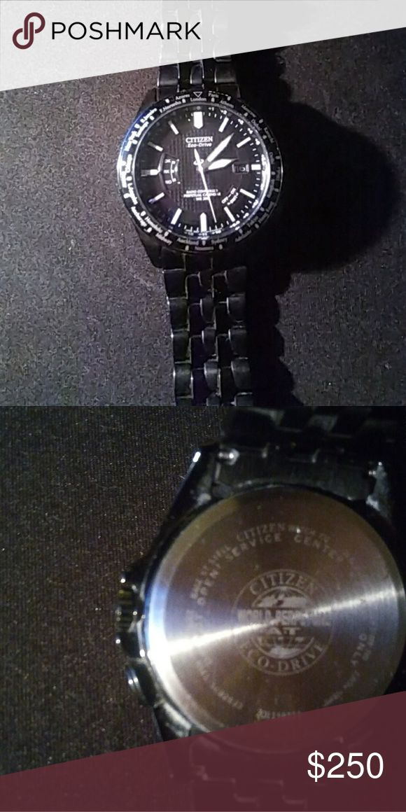 Citizen Eco-Drive World Radio Controlled Perpetual Citizen Eco-Drive World Radio Controlled Perpetual Calendar Watch.  Can tell time in any country. Has date display. Water Resistant up to 200ft below surface. Very nice watch at a  great price! Citizen Accessories Watches